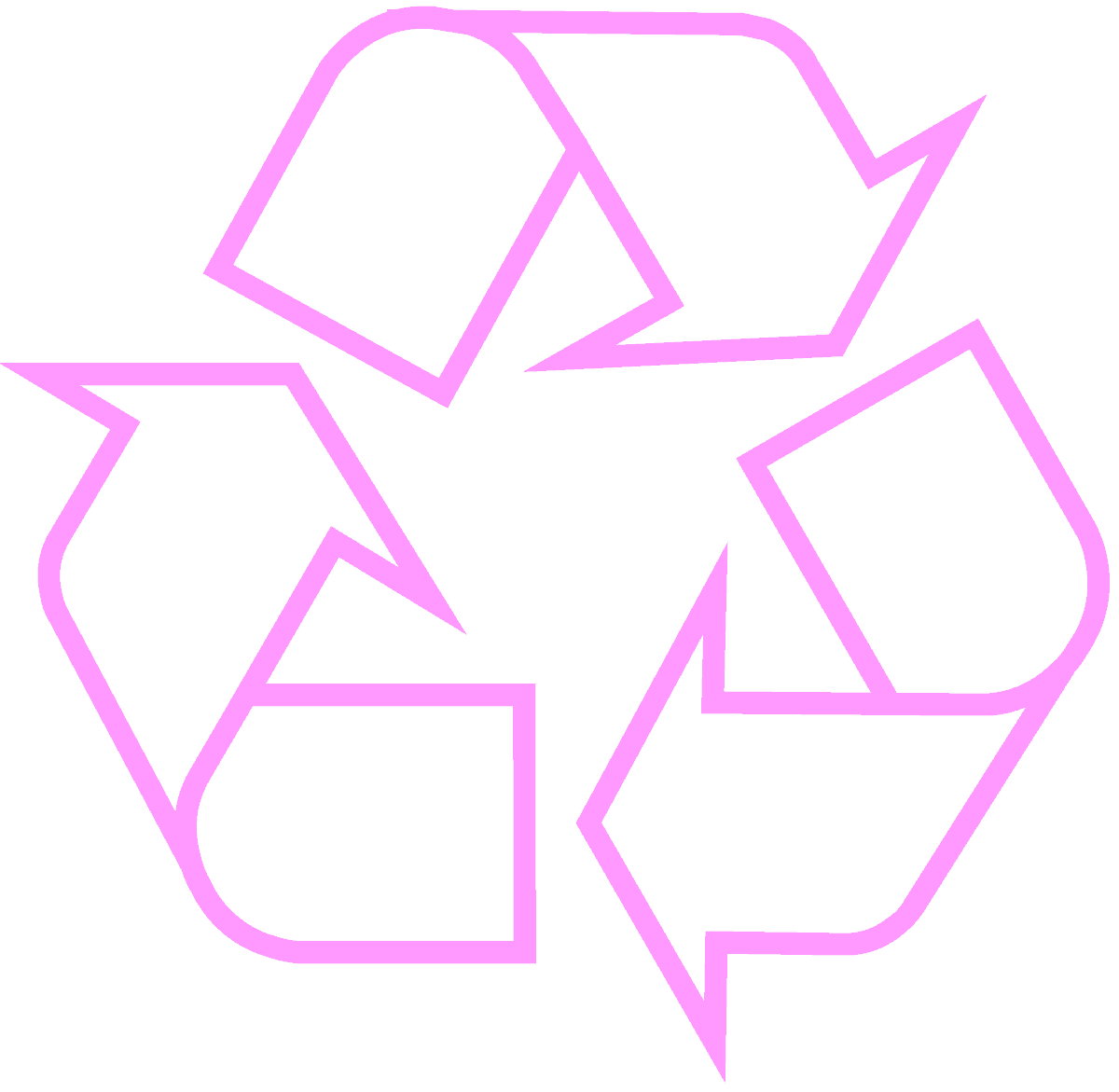 recycling-symbol-icon-outline-pink
