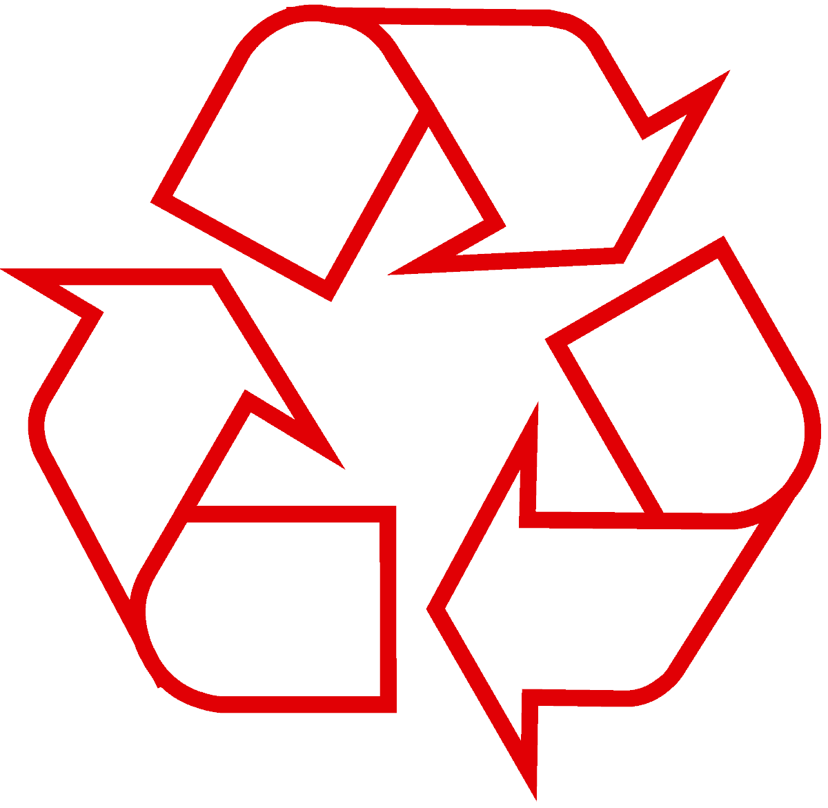 recycling-symbol-icon-outline-red
