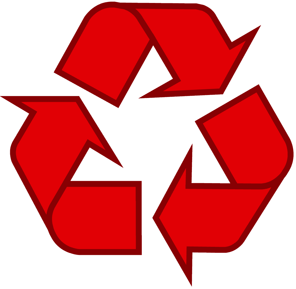 Download recycling symbol the original recycle logo recycling symbol icon outline solid red buycottarizona