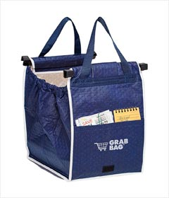 Insulated Reusable Grab Bag Grocery Shopping Tote Holds Up To 40 lbs