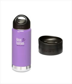 Klean Kanteen 16-Ounce Wide Insulated Stainless Steel Bottle With Loop Cap