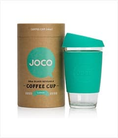 JOCO 16oz Glass Reusable Coffee Cup (Mint)