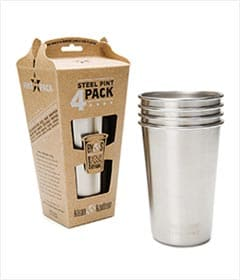 Kleen Kanteen 16 oz Stainless Steel Pint 4 Pack