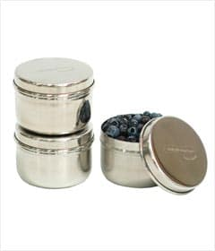 Kids Konserve Stainless Steel Mini Food Containers, Set of 3