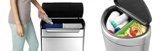 dual compartment kitchen trash cans