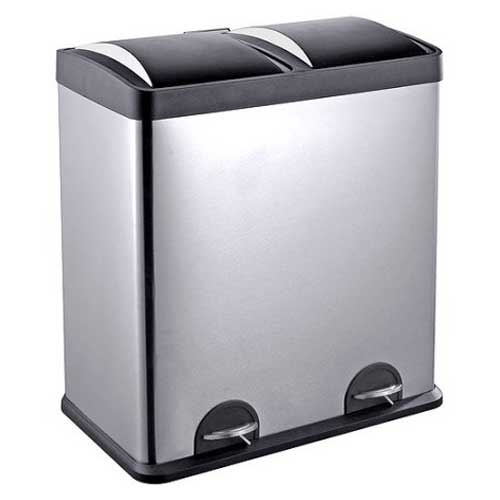 Charmant U201cLarge Dual Garbage Can To Organize Your Kitchen Garbageu201d
