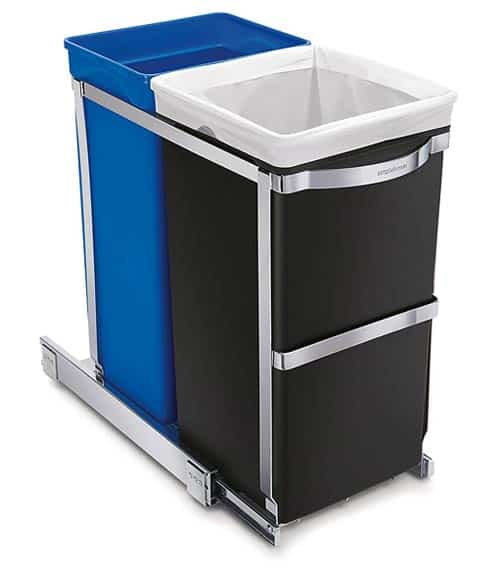 kitchen-trash-can-simplehuman-Under-Counter-Pull-Out-Recycler