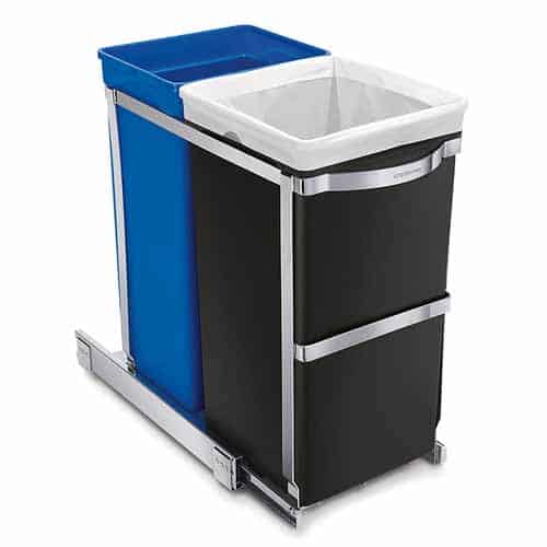 Recycling bins for home kitchen best trash cans 2018 - Small pull out trash can ...