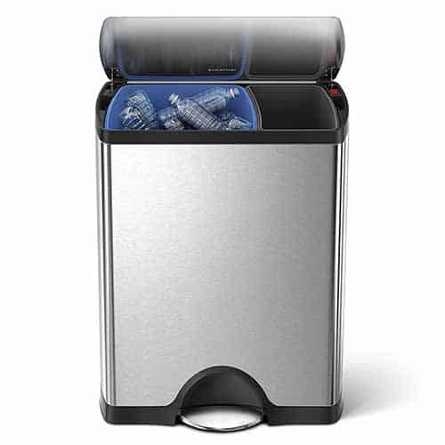 simplehuman-rectangular-step-trash-can-recycler-dual-double