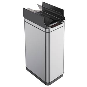 EKO-Narrow-Touchless-Trash-Can-With-Butterfly-Lid