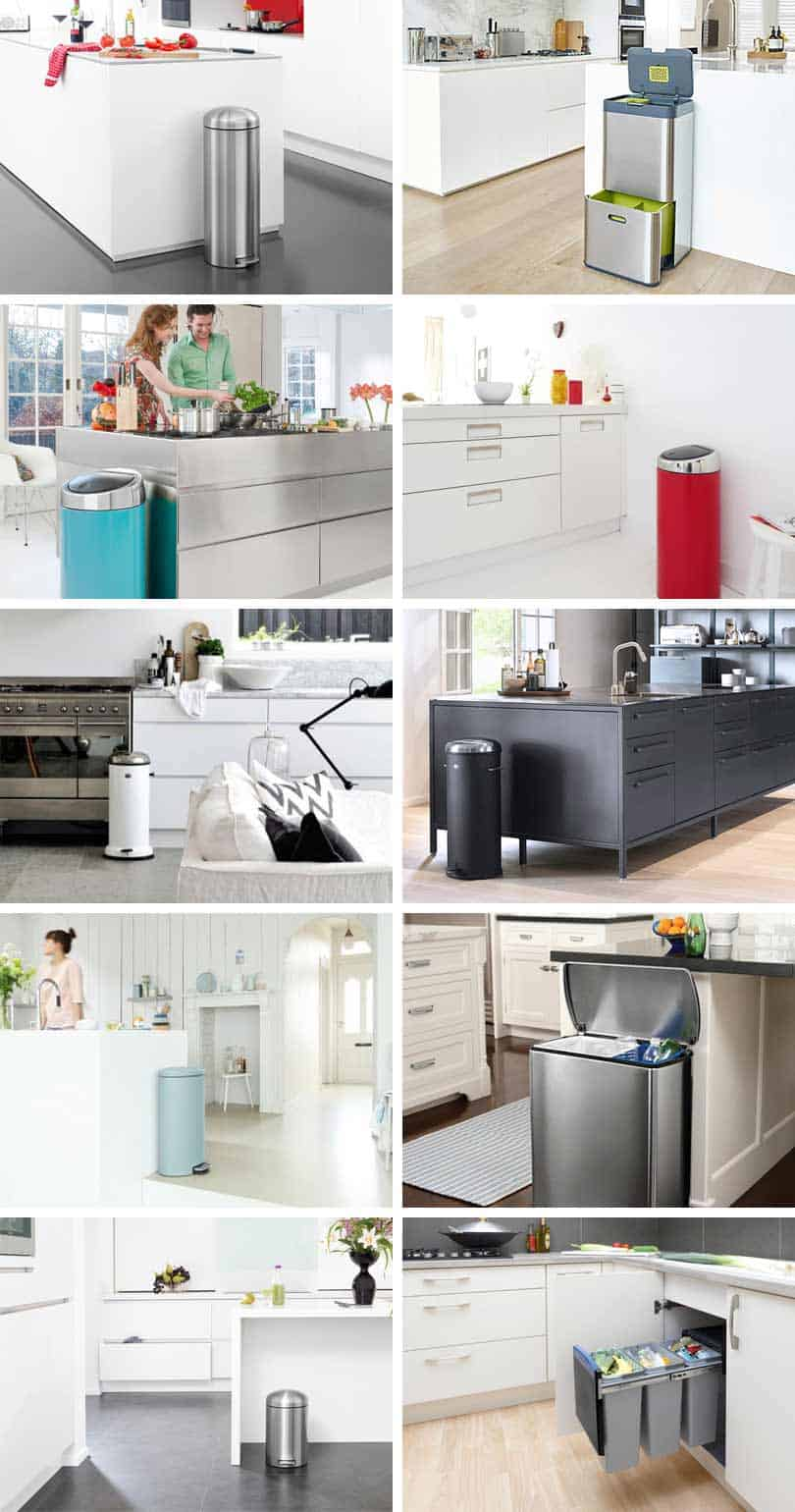 designer kitchen bins kitchen trash cans and recycling bins what to look for 3226