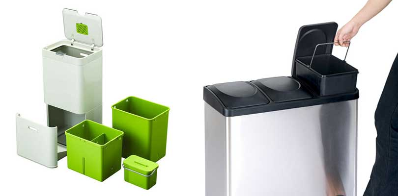 Trash Can Compartments Single Dual Or Multi Recycling Bins
