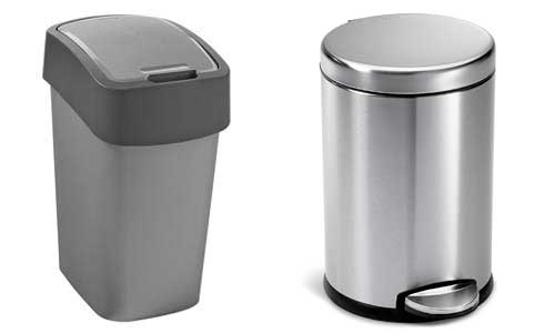plastic-metal-trash-can