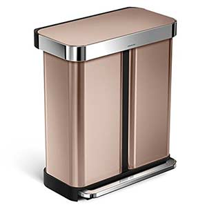 simplehuman-Dual-Compartment-Recycling-Step-Can-rose-gold