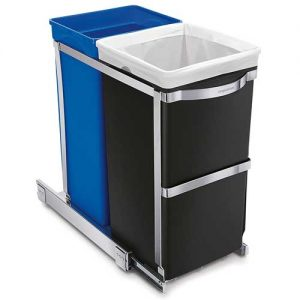 simplehuman-in-cabinet-pull-out-recycler-trash-can