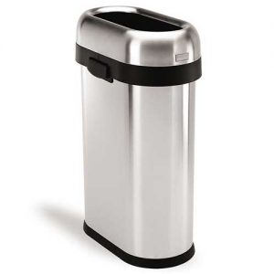 simplehuman-open-top-trash-can