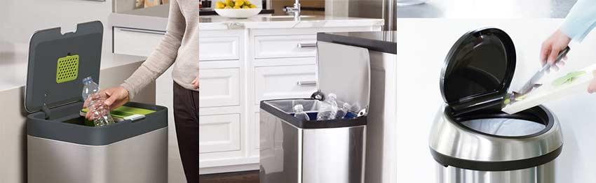 Stay Open Lid Trash Can Recycling Bin
