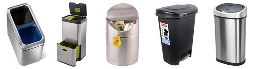 trash-can-recycling-bin-lid-mechanisms