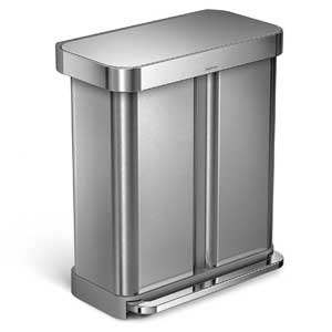 simplehuman-double-trash-can-rectangular-liner-pocket