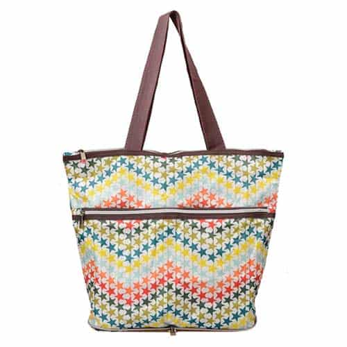 6 Tandi Zippered Shoulder Tote Bag
