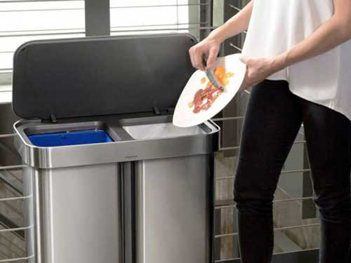 Dual Trash Can Recycling Cans