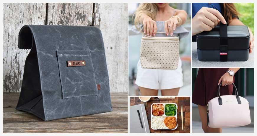 Reusable Stylish Lunch Tote Bags and Boxes - Work   School 1a76c62744