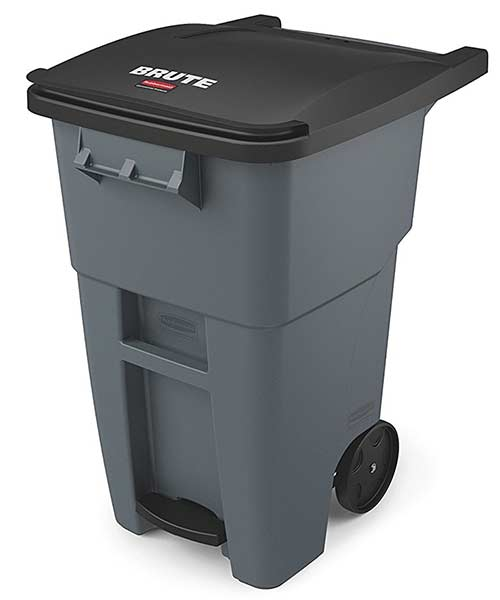 Rubbermaid-wheel-trash-can-landfill-grey