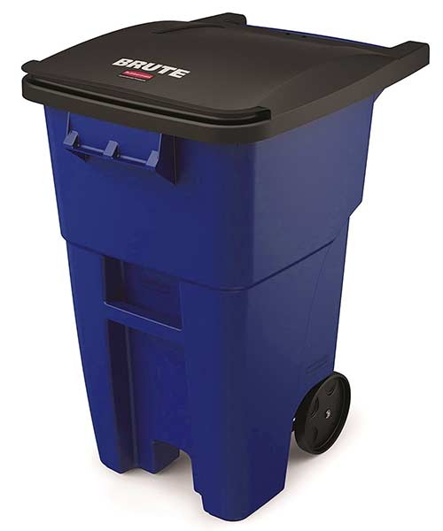 Rubbermaid-wheel-trash-can-recycling-blue