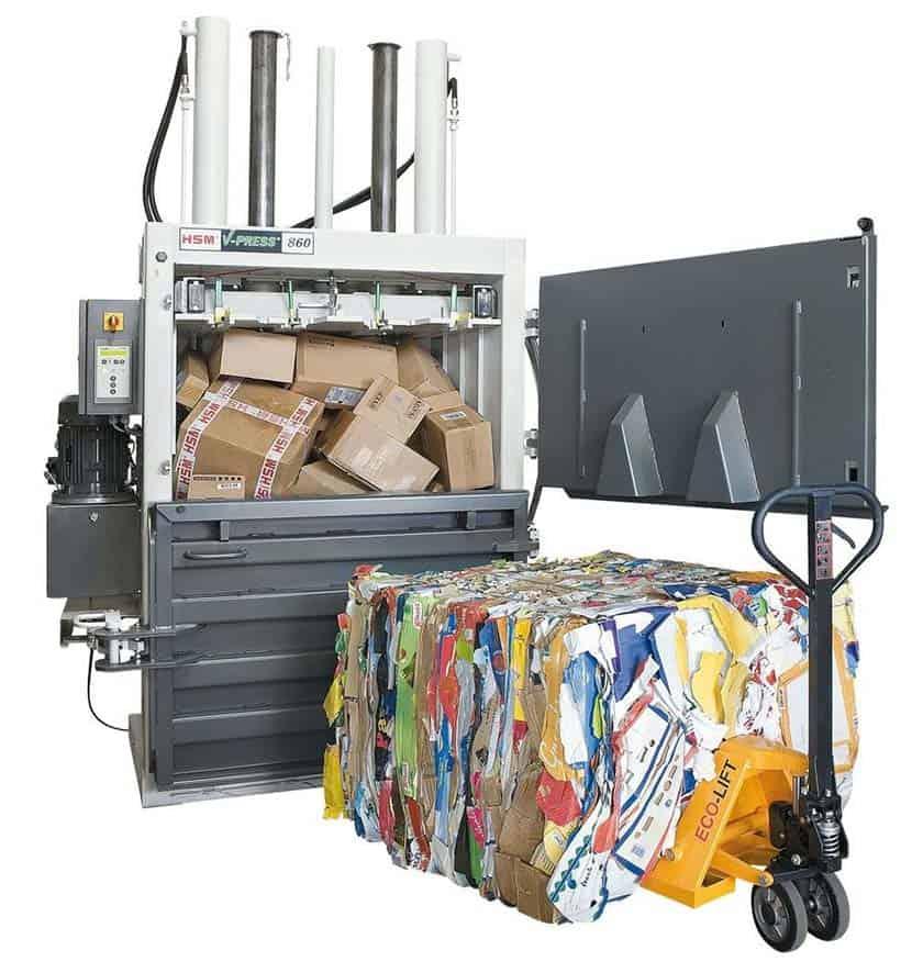 cardboard-press-bale-pallet-truck