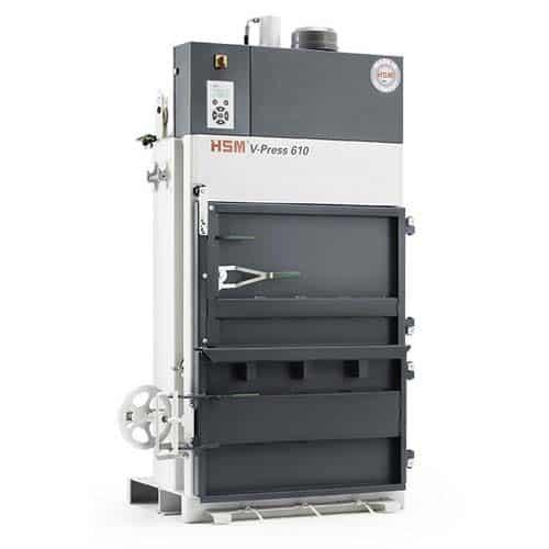 hsm-v-press-610-cardboard-baler