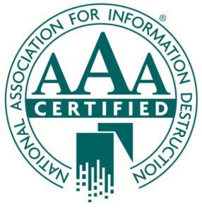 naid aaa logo certified