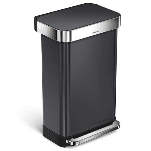 black-simplehuman-kitchen-step-trash-can