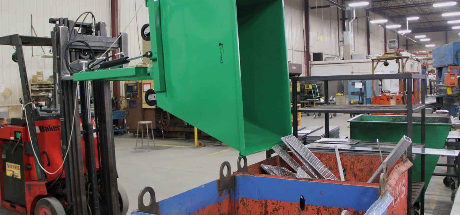 Self Dumping Hopper for Forklift Truck | Scrap Metal Hoppers