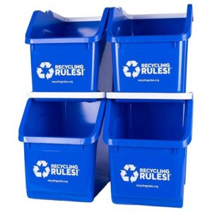 Blue-Stackable-Recycling-Bin-Container