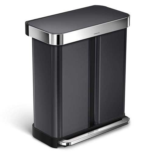 rectangular-dual-trash-can-simplehuman-recycling-bin-black