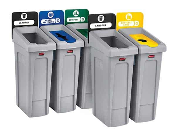 Rubbermaid-Commercial-Slim-Jim-Recycling-Station