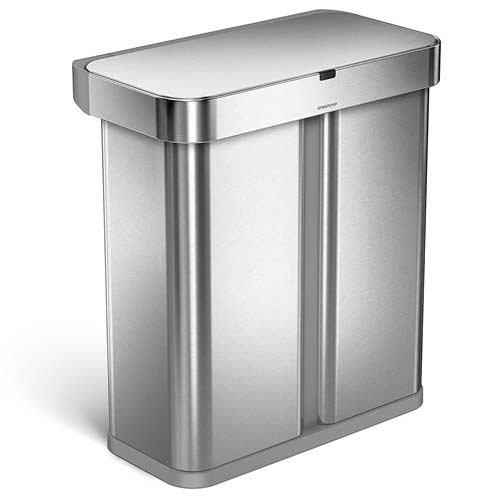 Simplehuman-trash-can-recycler-with-voice-motion-control