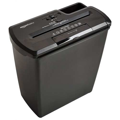 AmazonBasics-8-Sheet-budget-friendly-strip-cut-shredder