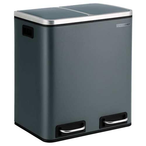 SSONGMICS-Mülleimer-für-die-Küche-Rauchgrau