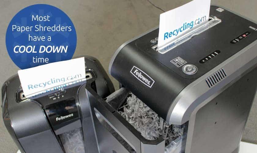 papel-trituradora-sobrecalentamiento-tiempo de ejecución-enfriamiento