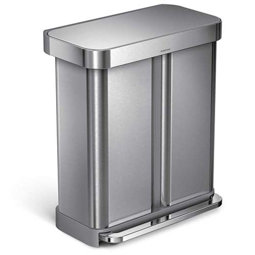 rectangular-dual-step-trash-can-simplehuman-recycling-bin
