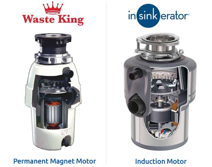 waste-king-vs-insinkerator-motor-permanent-magnets-and-induction
