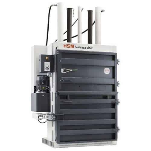 HSM-V-Press-860-L-cardboard-baler