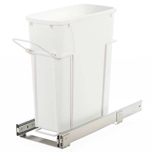 Knape-&-Vogt-SBM9-1-20WH-under-counter-trash-can