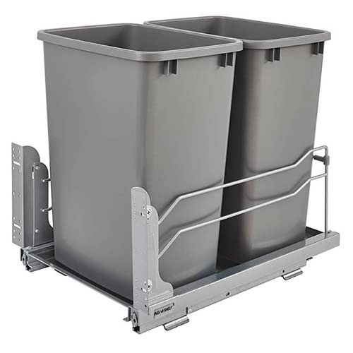 Rev-A-Shelf-Soft-Close-Double-Waste-Container-kitchen-cabinet