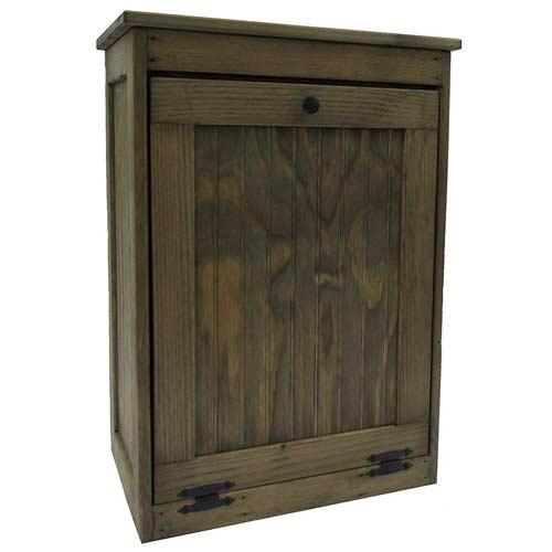 Wooden-Tilt-out-Trash-Bin-Hinged-Top-Trash-cabinet
