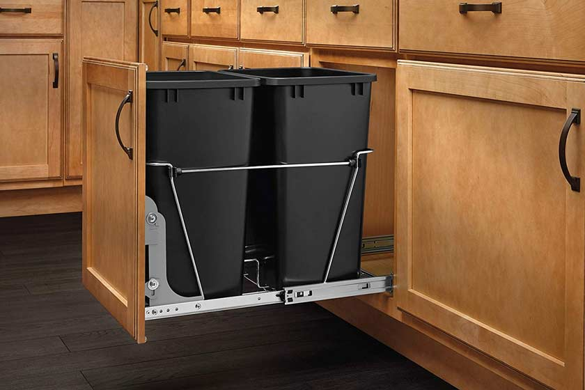 Pull Out Trash Cans For Kitchen Cabinet Under Counter