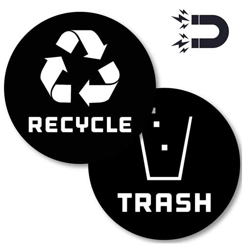 Recycle-Logo-and-Trash-can-Magnet-to-Organize-Your-Trash