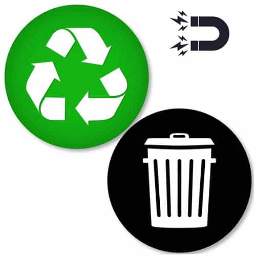 Recycle-and-Trash-Logo-Magnetic-Sticker-Organize-Trash-Recycling