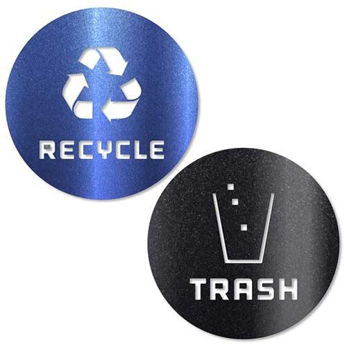 Recycle-and-Trash-Sticker-Vinyl-Metallic-Blue